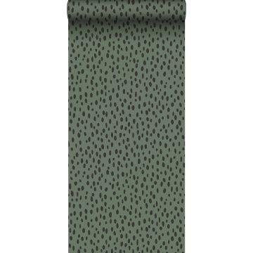 wallpaper dots grayish green and black from ESTA home