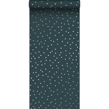 wallpaper dots dark blue and gold from ESTA home