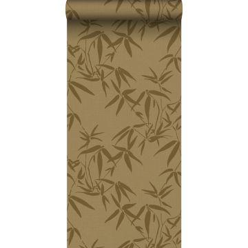 wallpaper bamboo leaves mustard from ESTA home