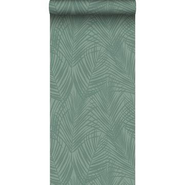 wallpaper palm leafs grayish green from ESTA home