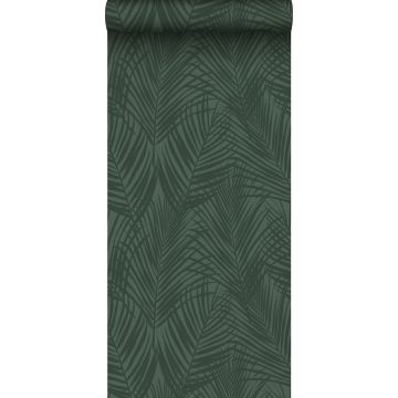 wallpaper palm leafs dark green from ESTA home