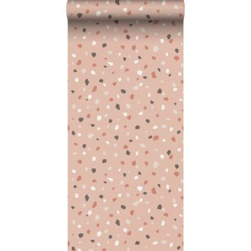 wallpaper terrazzo soft pink, white and gray from ESTA home