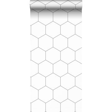 wallpaper honeycomb motif black and white from ESTA home