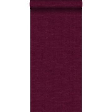 wallpaper linen look burgundy red from ESTA home