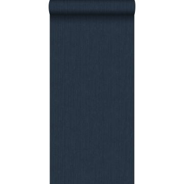 wallpaper plain with denim jeans structure dark blue from ESTA home
