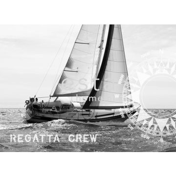 wall mural sailing boat black and white from ESTA home
