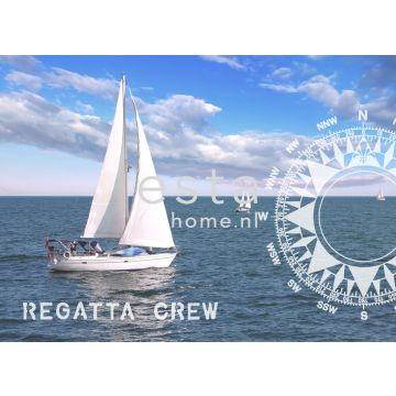 wall mural sailing boat blue from ESTA home