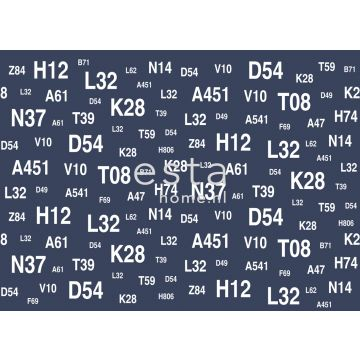 wall mural sailboat numbers blue from ESTA home