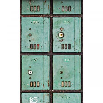 wall mural letterboxes sea green from ESTA home