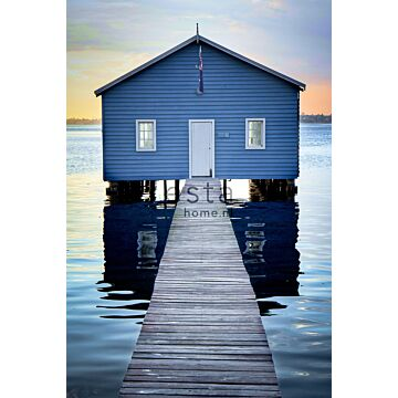 wall mural beach house blue, gray and evening red from ESTA home