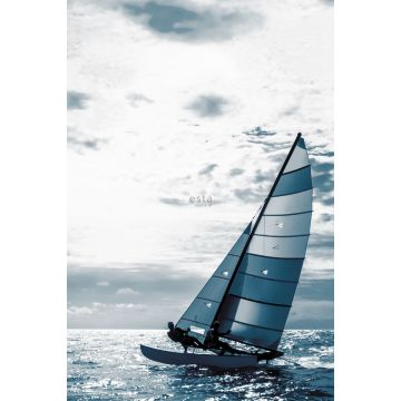 wall mural sailboat blue from ESTA home