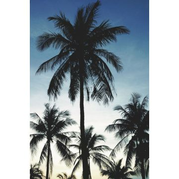wall mural palm trees blue, black and beige from ESTA home
