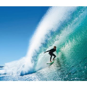 wall mural surfer blue and sea green from ESTA home
