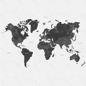 wall mural vintage world map greyish black from ESTA home