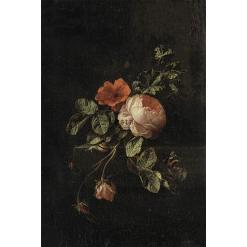 wall mural still life of flowers dark red and black from ESTA home