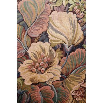 wall mural floral pattern orange from ESTA home