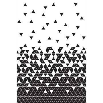 wall mural triangles black and white from ESTA home