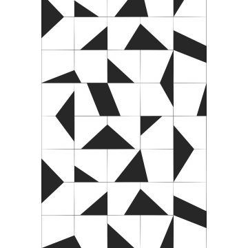 wall mural tile motif black and white from ESTA home