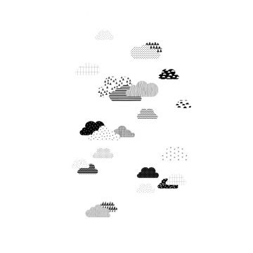 wall mural clouds black and white from ESTA home