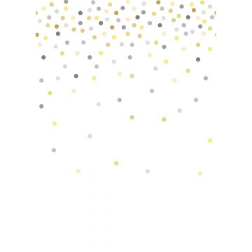 wall mural confetti dots yellow and gray from ESTA home