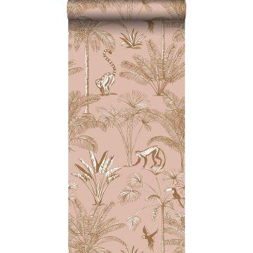 non-woven wallpaper XXL jungle peach pink from ESTA home