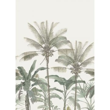 wall mural palm trees light beige and grayish green from ESTA home