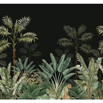wall mural jungle black and grayish green from ESTA home
