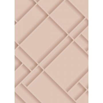 wall mural wall panelling soft pink from ESTA home