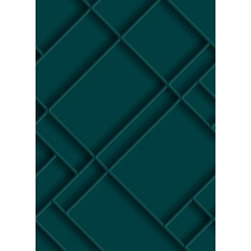 wall mural wall panelling teal from ESTA home