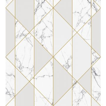 wall mural marble black and white, gray and gold from ESTA home
