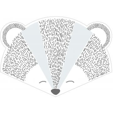 wall sticker animal heads gray and blue from ESTA home