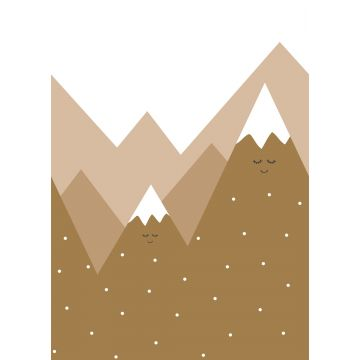 wall mural mountains mustard from ESTA home