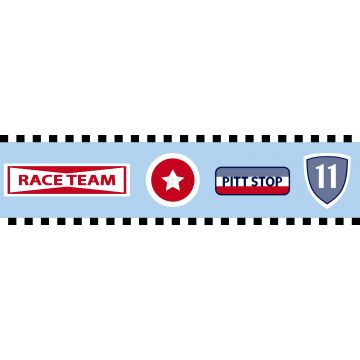 wallpaper border race team emblems heavenly blue from ESTA home