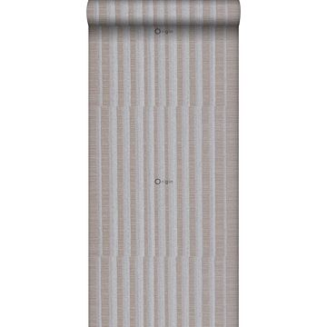 wallpaper stripes gray and brown from Origin