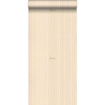 wallpaper fine stripes champagne beige from Origin