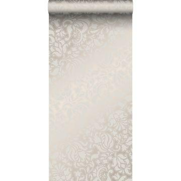 wallpaper lace print silver from Origin