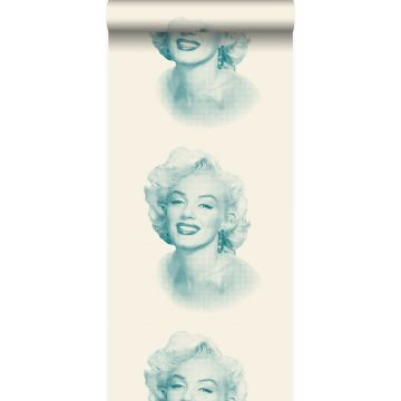wallpaper Marilyn Monroe white and turquoise from Origin