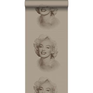 wallpaper Marilyn Monroe shiny bronze from Origin