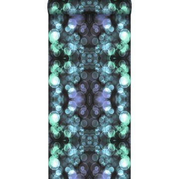 wallpaper kaleidoscope light azure blue and lilac purple from Origin