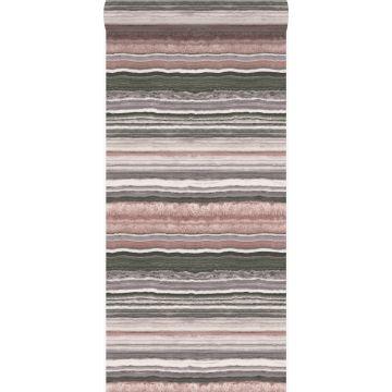 wallpaper layered marble stone quartz pink from Origin