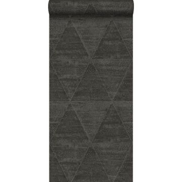 wallpaper weathered metal triangles black from Origin