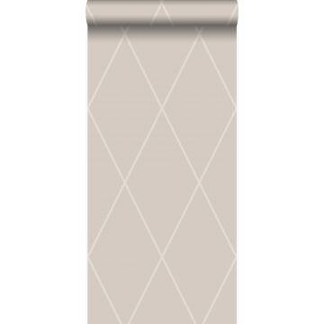 wallpaper rhombus motif warm silver from Origin