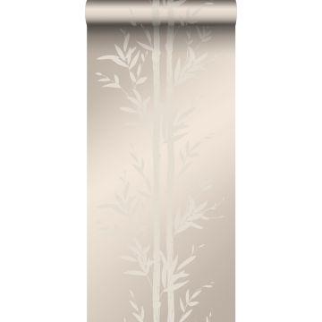 wallpaper bamboo warm silver from Origin