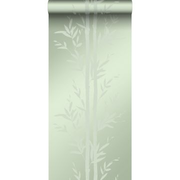 wallpaper bamboo olive green from Origin