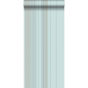 wallpaper stripes teal from Origin