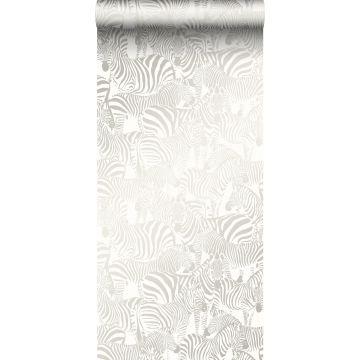 wallpaper zebras silver from Origin