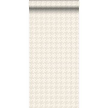wallpaper houndstooth motif white and silver from Origin