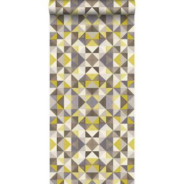 wallpaper cubism mustard from Origin