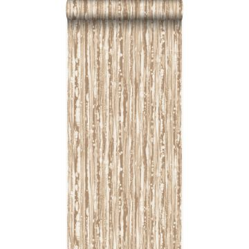wallpaper stripes shiny bronze from Origin