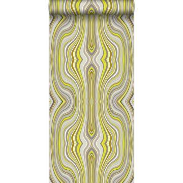 wallpaper graphic lines mustard from Origin